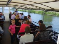 Onze boot in de Biesbosch