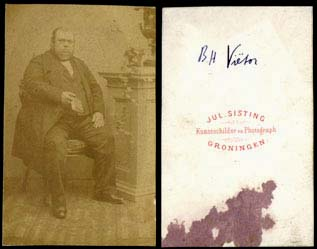 Berend Haitzema Viëtor, geboren te Winschoten 2-08-1817.