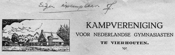 Het Kamphuis van de Vereniging van Nederlandsche Gymnasiasten in Vierhouten.